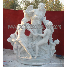 Garden Marble Statue for Carving Stone Sculpture (SY-X1659)