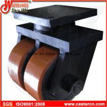 Caster industrial de la capacidad ultra alta con la rueda doble de la PU