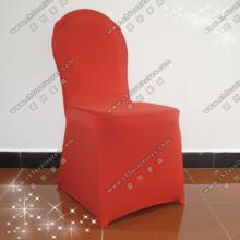 Красный гибкий чехол для стула для свадьбы Yc-831-02