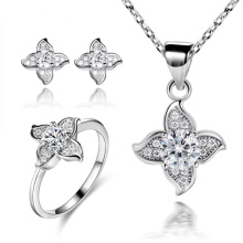 Spark Flower Jewelry Set 925 Sterling Silver Jewelry