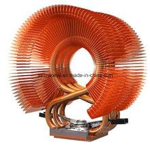 Radiateur en tube de cuivre utilisé pour la machine