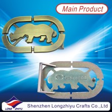 Hollow out Metal Custom Cowboy Shiny Bronze Belt Buckles for Men Decoration (LZY201300002)