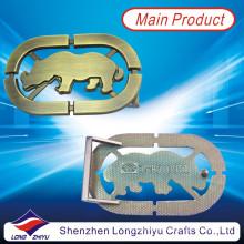 Custom Made Metal comemorativa Buck Bronze Buckles para correias concessionárias em Shenzhen (LZY201300002)