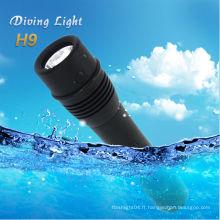 Nouveau produit Cree xm-l T6 conduit la lanterne de plongée cree q5 lampe torche led