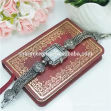 Alta qualidade vintage fashion luxo liga relógio de pulso para mulheres b022