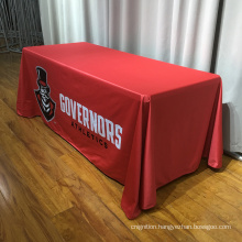 China full color advertising custom standard table cover cloth