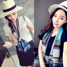 Леди мода печатных атласная шелковая Магия Многофункциональный шарф воротник (YKY1091-19)