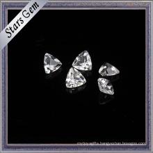 Bling Bling Triangle Shape Natural White Topaz for Jewellery