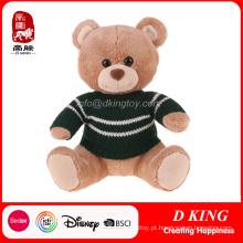 Urso de peluche do brinquedo do luxuoso dos animais enchidos com camisola