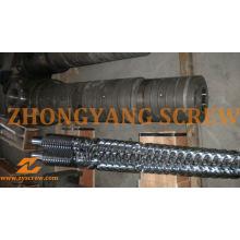 Zyt422 bimetálico cónico doble husillo barril para extrusora de tubos de PVC