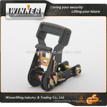 hot sale 1'' heavy duty soft handle ratchet tie down chinese supplier;cargo tie down