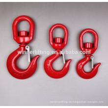G100 Hohe Belastbarkeit Sicherheit Schwenkbarer Lasthaken mit Klinke