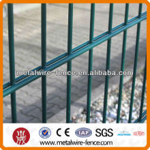 electro galvanized then powder coated double wire fence