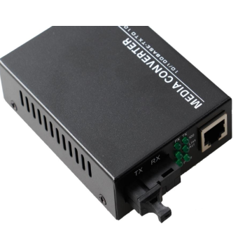 Fiber To Rj45 อีเธอร์เน็ต Gigabit Single Mode Media Converter