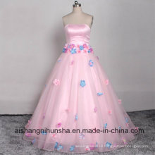 Cute Floor-Long Prom Dress Elegant Chic Stomacher Wedding Gown