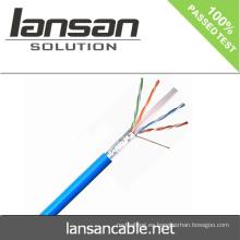Lansan 305m cat6 utp cable de red 23awg 4pair BC pase prueba de la solapa buena calidad y precio de fábrica