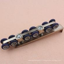 Rouleau de porte durable pour système coulissant pour porte en bois 70 - 100 Kg