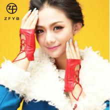 Las nuevas muchachas elegantes de la tapa de la manera del estilo dan guantes sin los dedos