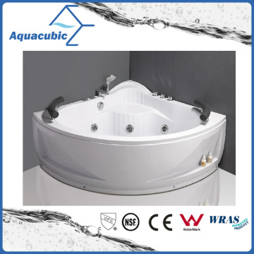 Corner ABS Board Whirlpool Bathtub with 13 Jets (AB0824)