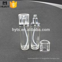 Bouteille cosmétique en verre de lotion de 110ml avec la pompe d'argent et le chapeau clair