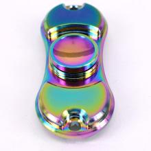 2017 New Rainbow Color Alloy Metal Fidget Spinner à main