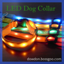 Colorful Nylon Dog Collar and LED Pet Collar for Safety Protection (DC-001)
