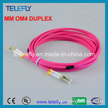 LC Om4 Duplex Fiber Optic Jumper, Jumper Cable