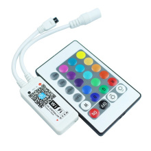 DC12V Mini Wifi RGB/RGBW Led Controller + IR 24 Key Remote Controller for RGB / RGBW LED Strip