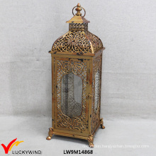 Vintage Golden Metal Glass Wholesale Moroccan Lantern
