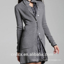 15STC3003 long cardigan pure cashmere coat