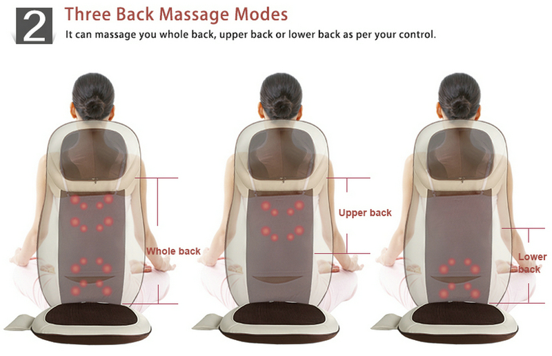 Relief Shiatsu Massage Cushion with Heating