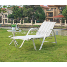 Outdoor sun lounger poolside furniture aluminum frame chaise lounge