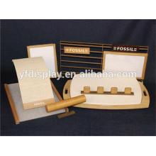 Présentoir vente chaude de montre de poignet en bois