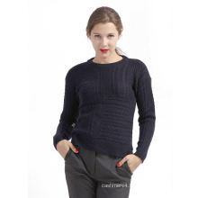 Hot Selling special design woolen black knit sweater