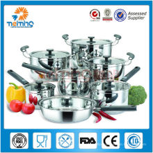NEW design 12pcs stainless steel cooking pots set