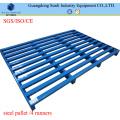 2 Way Entry Galvanized Blue Metal Pallet