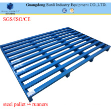 2 Way Entry Galvanized Blue Metal Pallet