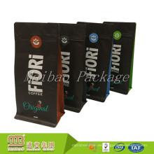 La FDA aprobó el diseño personalizado de grado alimenticio impreso lateral de la bolsa de café del escudete 1000g 1kg al por mayor