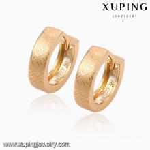 92011 Pendiente de joyería chapado en oro simple 18k de la venta caliente de la manera Huggie en precio de la promoción