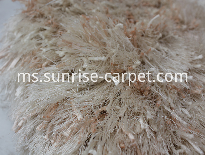 Thick Polyester and Thin Polyester Shaggy Rug Ivory Color