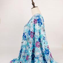 Wholesale floral printed 100% viscose crepe yoryu fabric