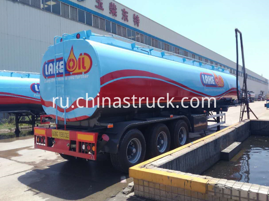3 BPW axle 45M3 fuel tank trailer for LAKE OIL