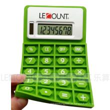 Calculadora dobrável do silicone do poder dobro de 8 dígitos com ímã (LC525A)