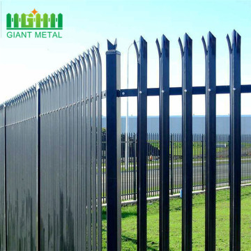PVC coating steel palisade d section iron fence