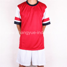 high polyester soccer jersey with shorts for mens training