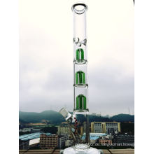 Heißer Verkauf 20 Zoll Höhe drei Schicht Arm Baum Perc Rauchen Glas Rohr