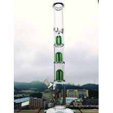 Tubo de agua de cristal de la calidad del árbol del brazo Tubo de cristal del percolador de la pipa que fuma 17inch al por mayor