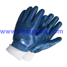 Baumwoll-Jersey-Liner, Nitril-Beschichtung, Sicherheits-Handschuhe