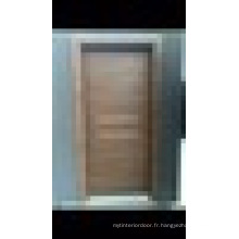 WPC (Wood Plastic Composite) Porte intérieure avec lattes décoratives en aluminium