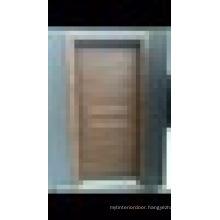 WPC (Wood Plastic Composite) Interior Door with Decorative Aluminium Lath